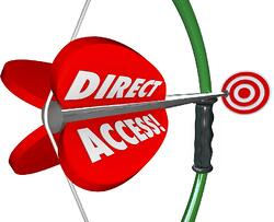 bigstock-Direct-Access-words-on-a-bow-a-80346089